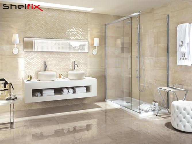 کاربرد شلف های ساده در حمام
