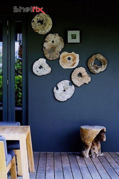 استفاده از کنده درخت به عنوان دکور