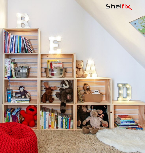 شلف های دیواری اتاق کودک و نوزاد