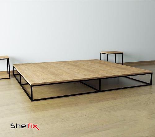 سرویس خواب چوبی و فلزی مدرن