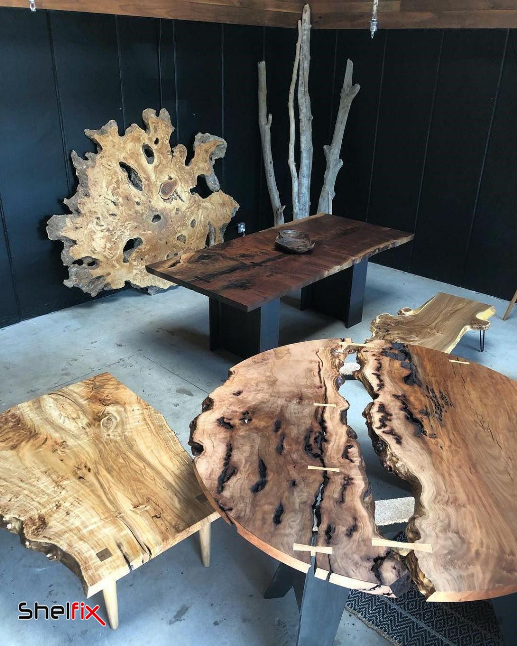 میزهای چوبی ارگانیک
