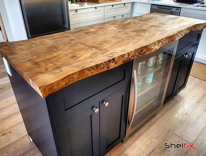 استفاده از چوب طبیعی در کانتر آشپزخانهها