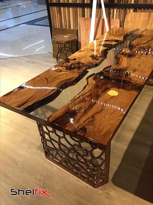 ترکیب چوب و فلز در ساخت میزهای دکوراتیو