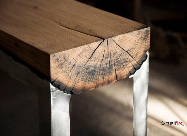 چوب و شیشه در ساخت مبلمان